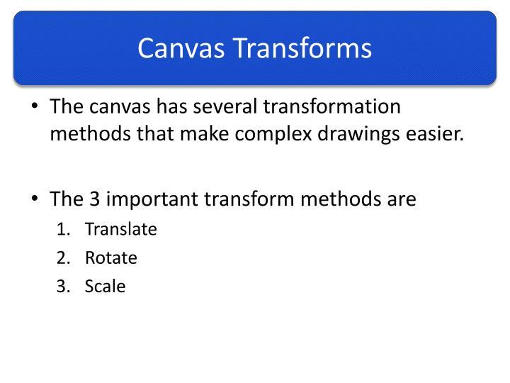 Canvas Transforms