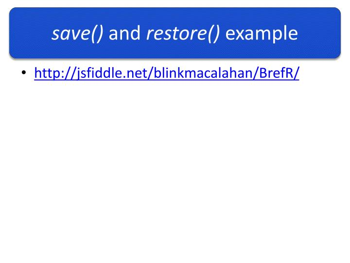 save()
