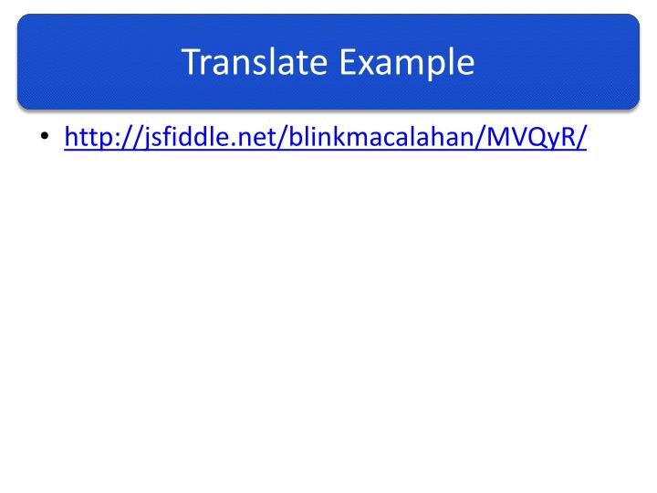 Translate Example