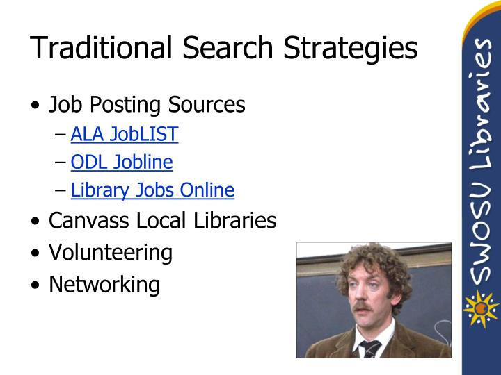 Traditional Search Strategies