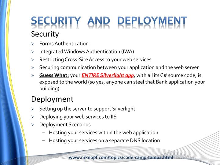 Security   and   deployment