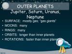 outer planets jupiter saturn uranus neptune