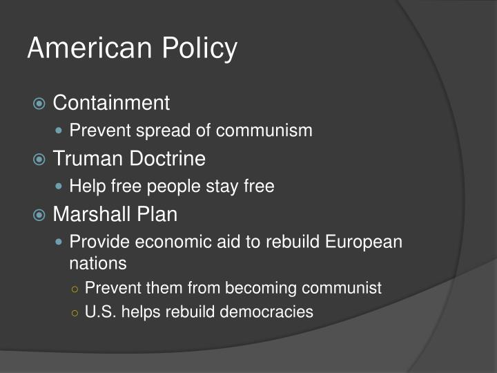 American Policy