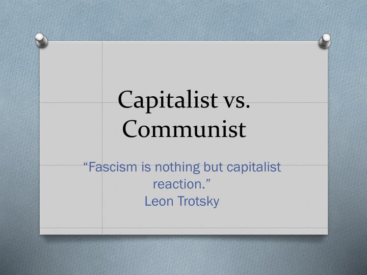 capitalist vs communist