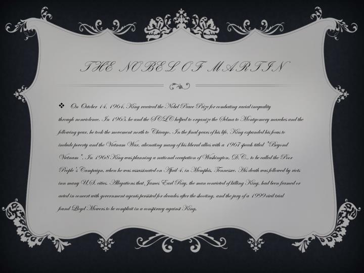 the Nobel of martin
