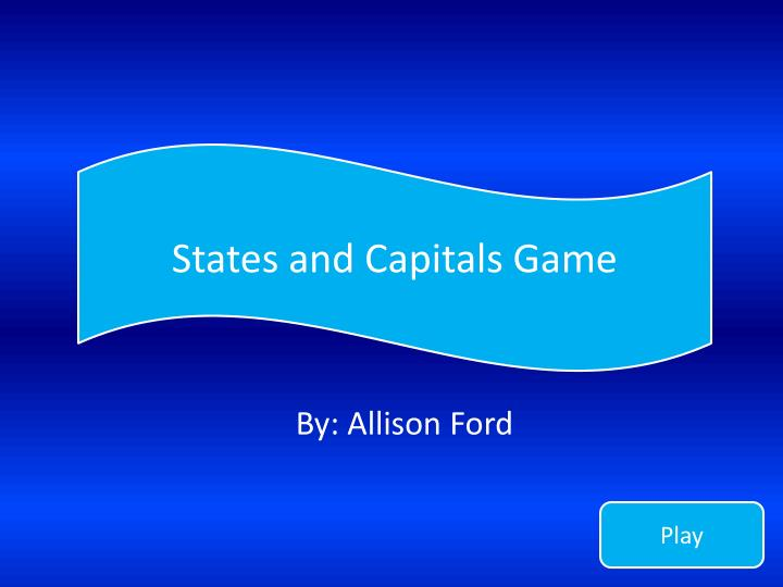 States and capitals game
