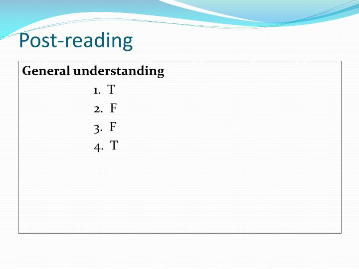 Post-reading