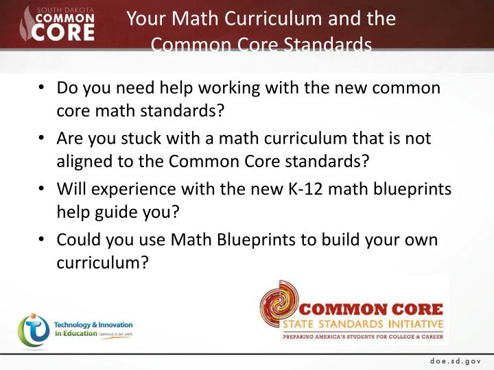 Your Math Curriculum and the