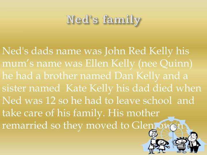 Ned's family