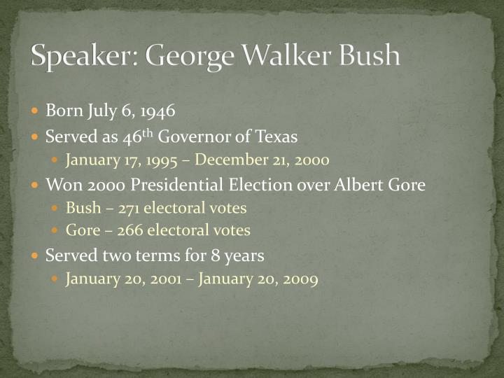 Speaker: George