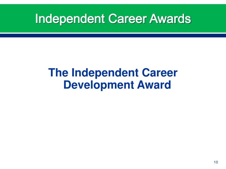 Independent Career Awards