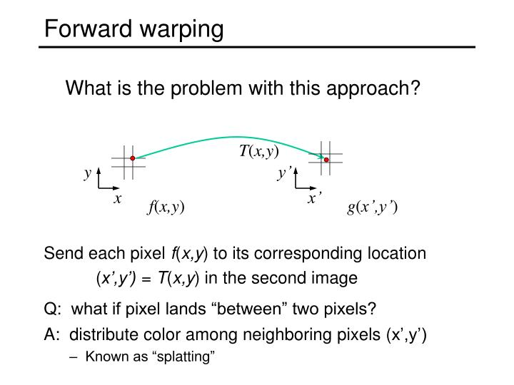 Forward warping