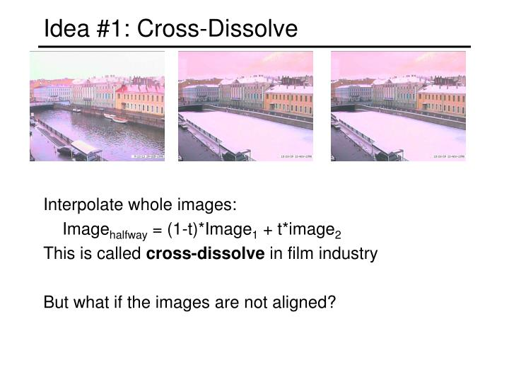 Idea #1: Cross-Dissolve