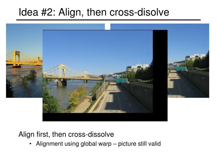 Idea #2: Align, then cross-disolve