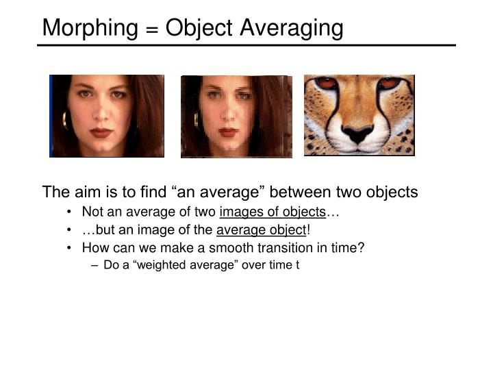 Morphing = Object Averaging