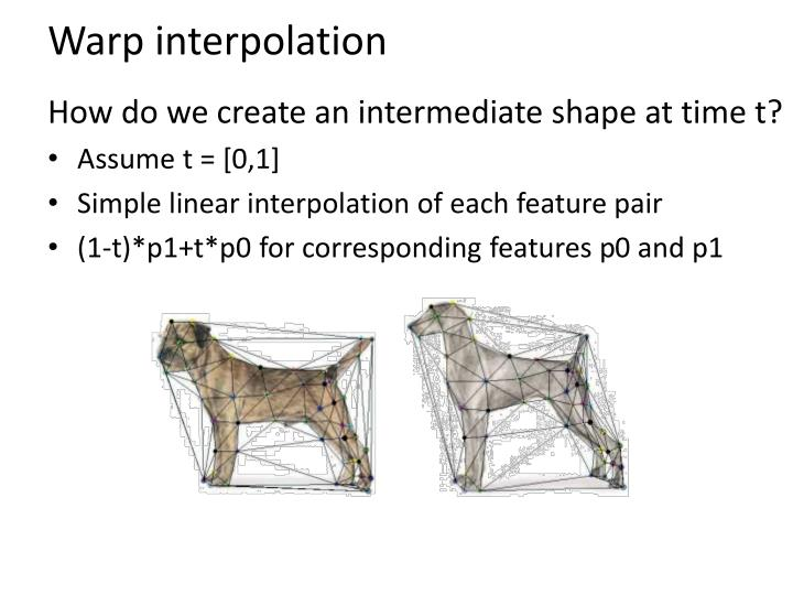 Warp interpolation