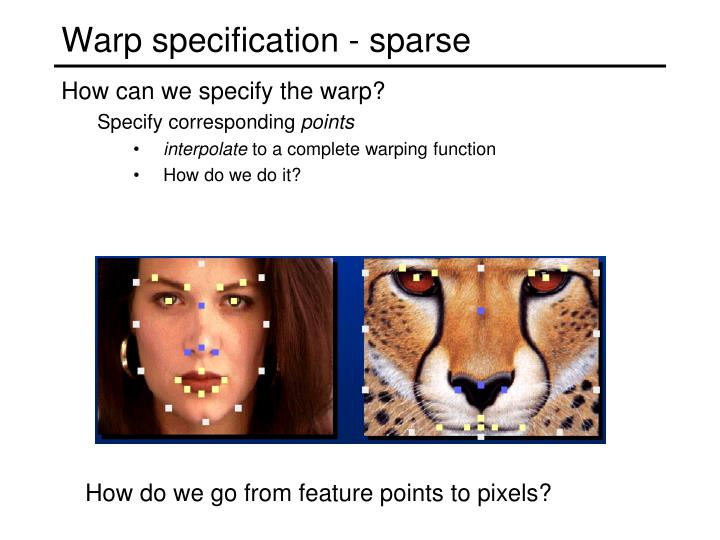 Warp specification - sparse