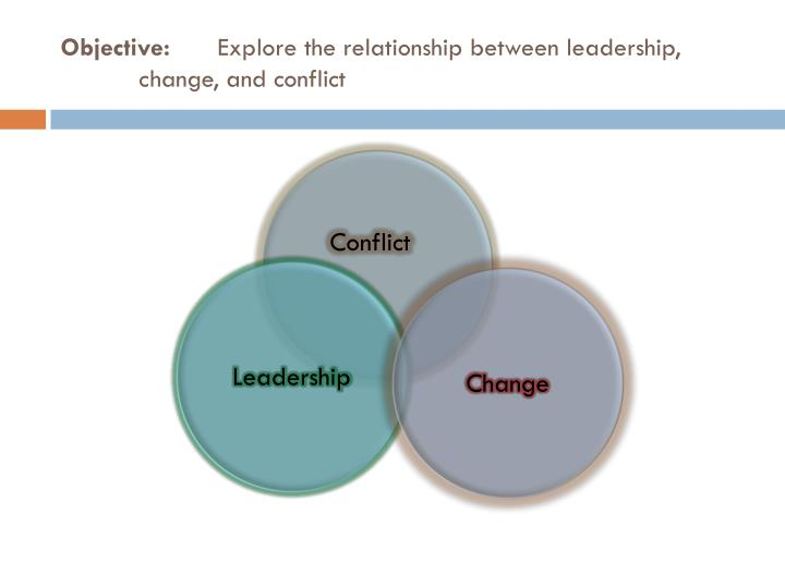 Objective explore the relationship between leadership change and conflict