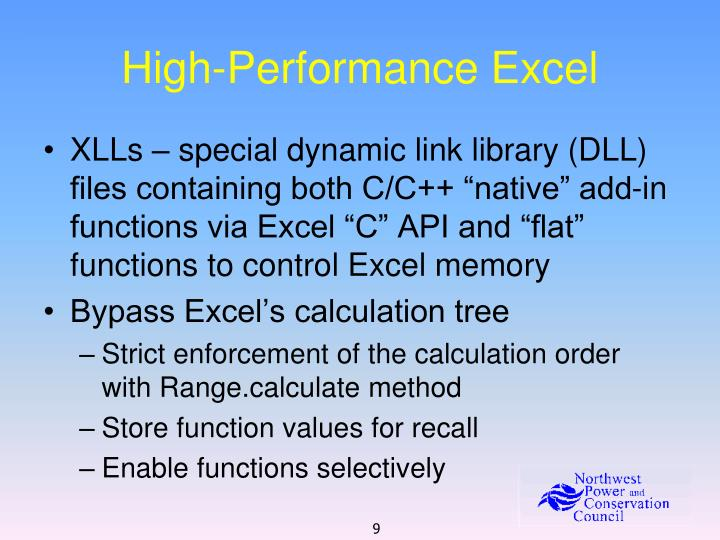 High-Performance Excel