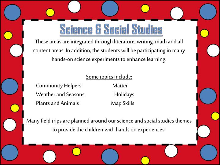 Science & Social Studies