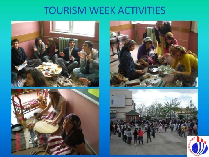 TOURISM WEEK ACTIVITIES