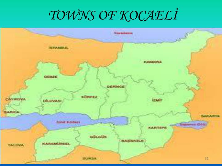 TOWNS OF KOCAELİ