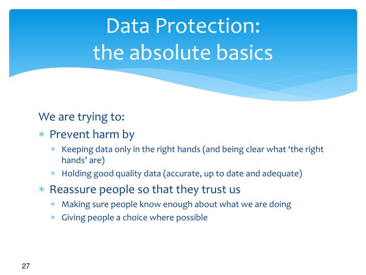 Data Protection: