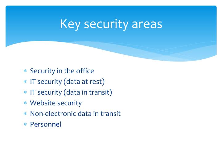 Key security areas