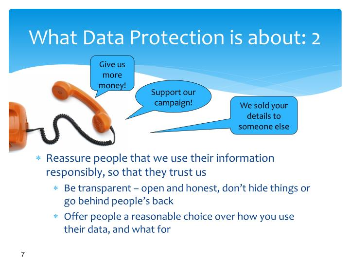 What Data Protection is about: 2