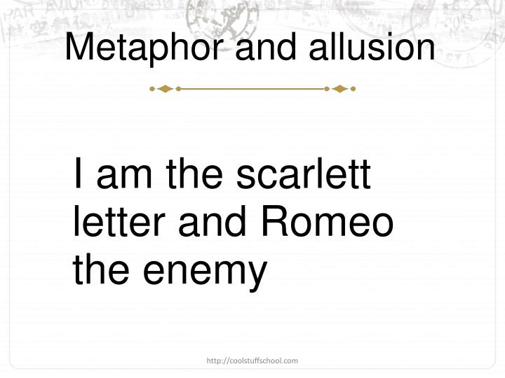 Metaphor and allusion