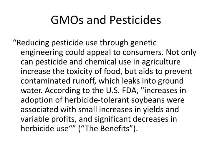 GMOs and Pesticides