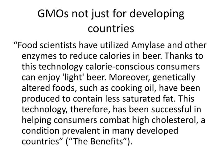 GMOs not just for developing countries