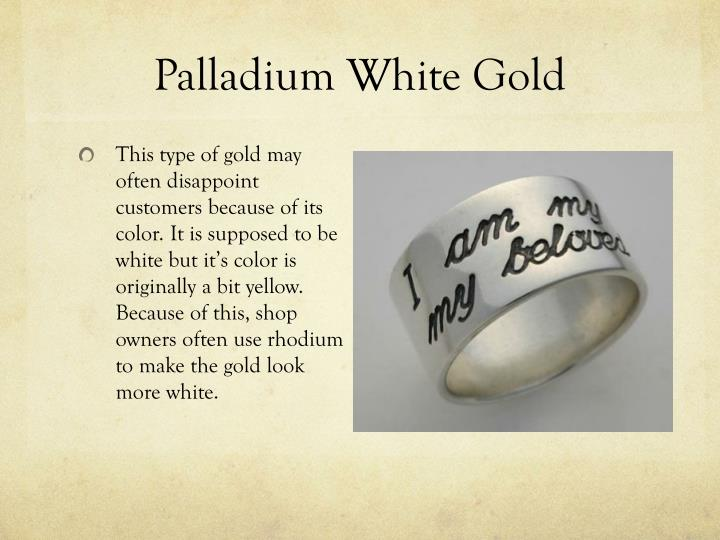Palladium White Gold