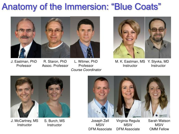 "Anatomy of the Immersion: ""Blue Coats"""