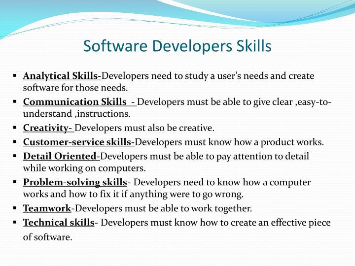 Software Developers Skills