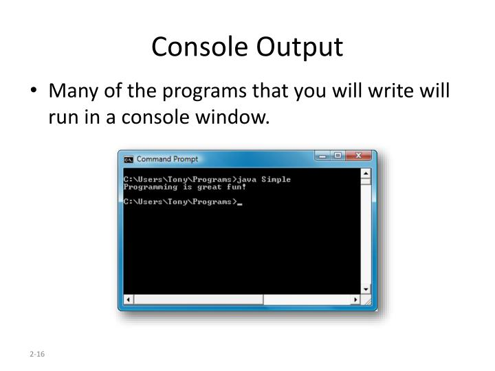 Console Output