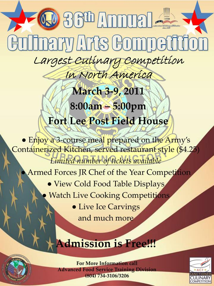 36 th annual culinary arts competition