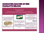 character analysis of mrs charlotte meldon