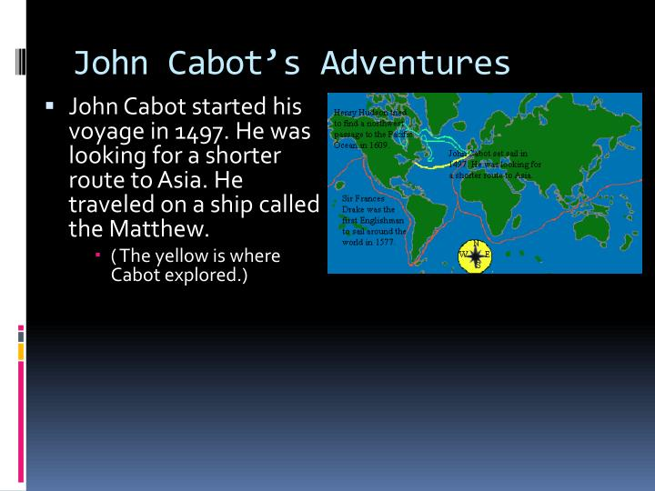 John Cabot's Adventures