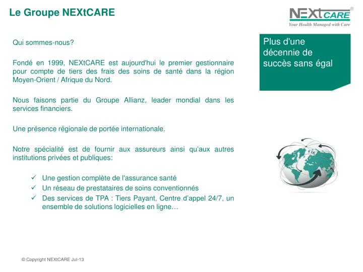 Le Groupe NEXtCARE