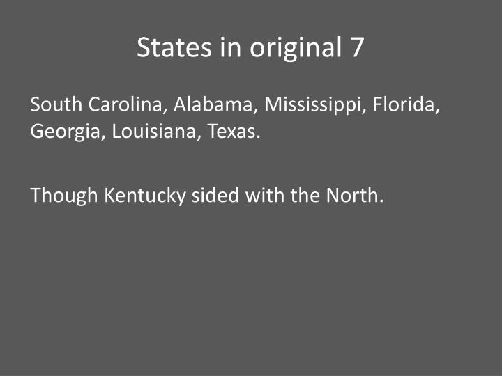 States in original 7