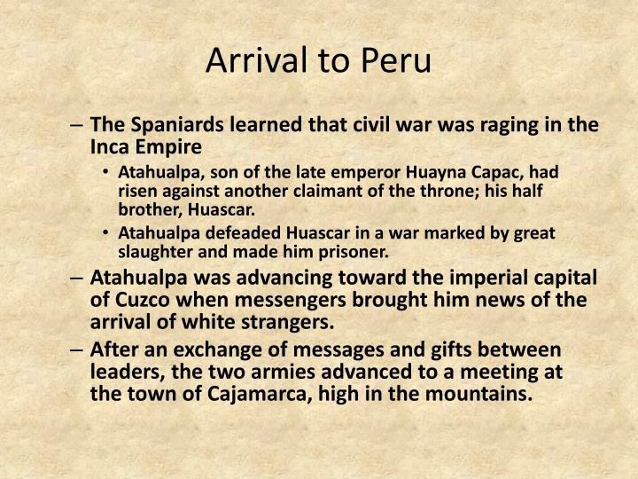 Arrival to Peru