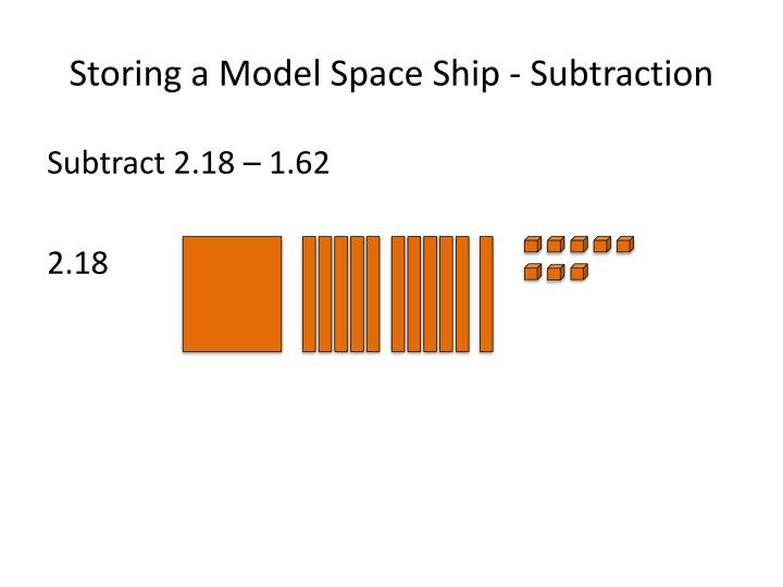 Storing a Model Space Ship - Subtraction