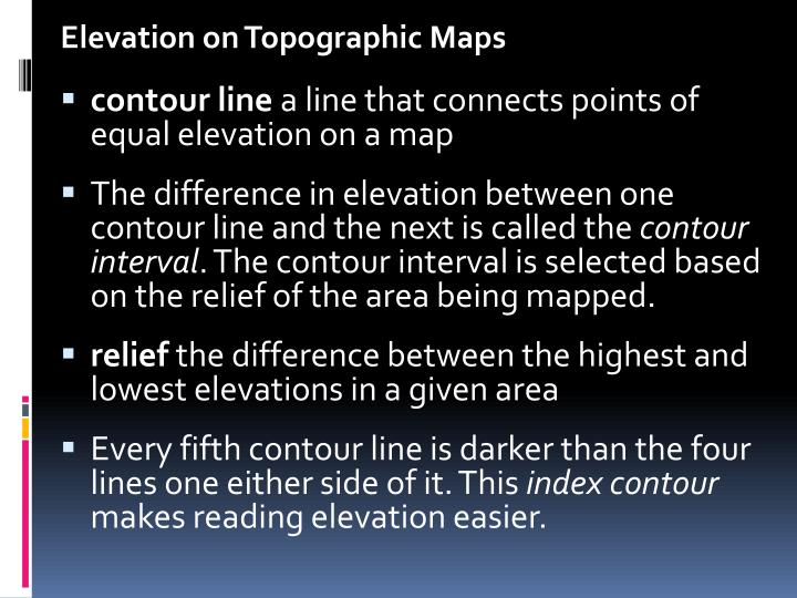 Elevation on Topographic Maps