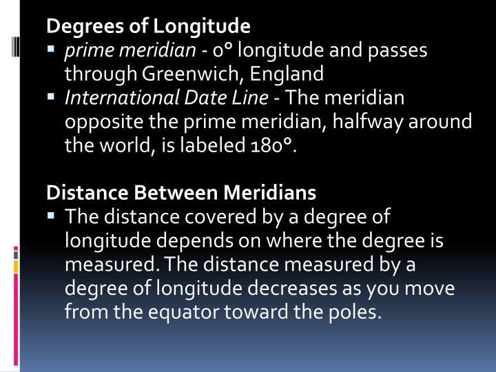 Degrees of Longitude