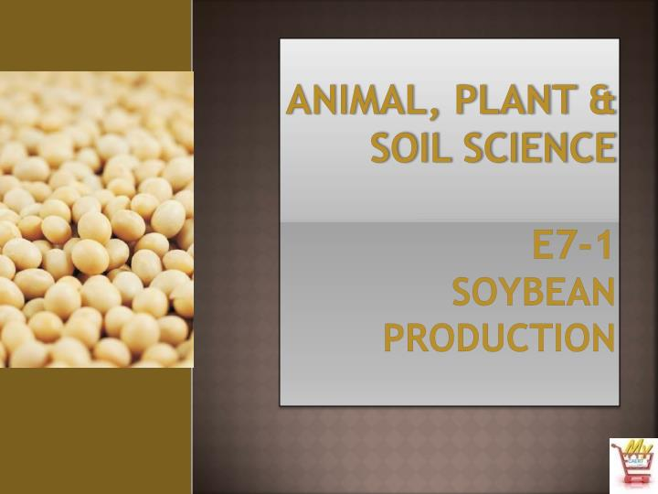 Animal plant soil science e7 1 soybean production