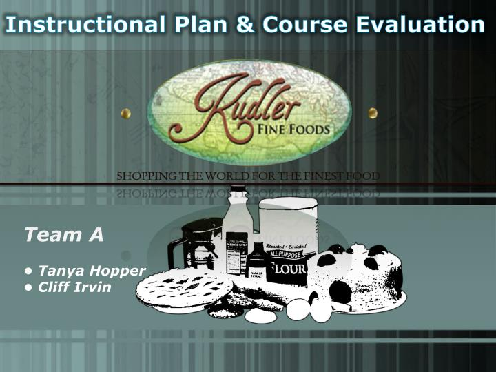 Instructional Plan & Course Evaluation