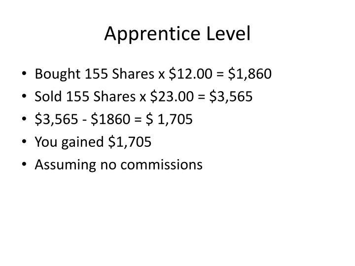 Apprentice Level