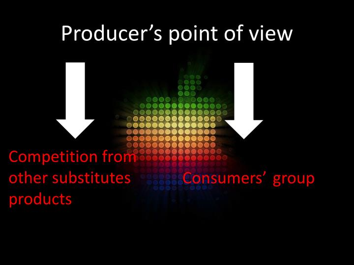 Producer's point of view