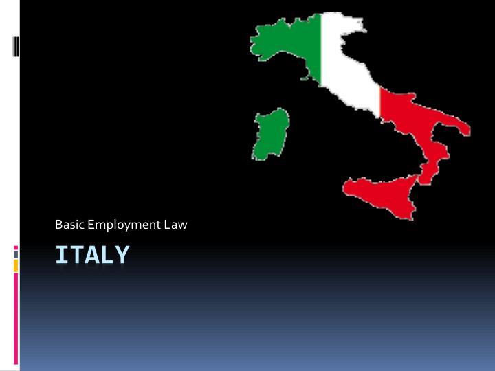 Basic Employment Law